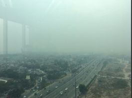 Lahore under smog effect