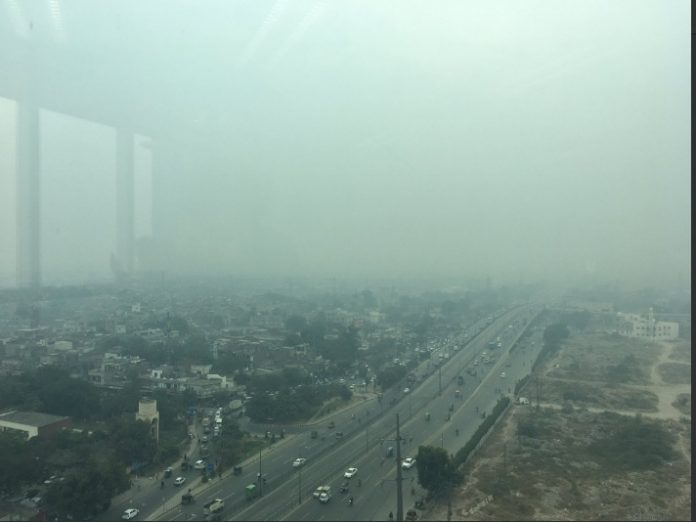 Lahore under smog effect